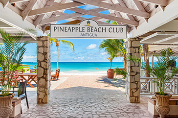 Pineapple Beach Club aerial