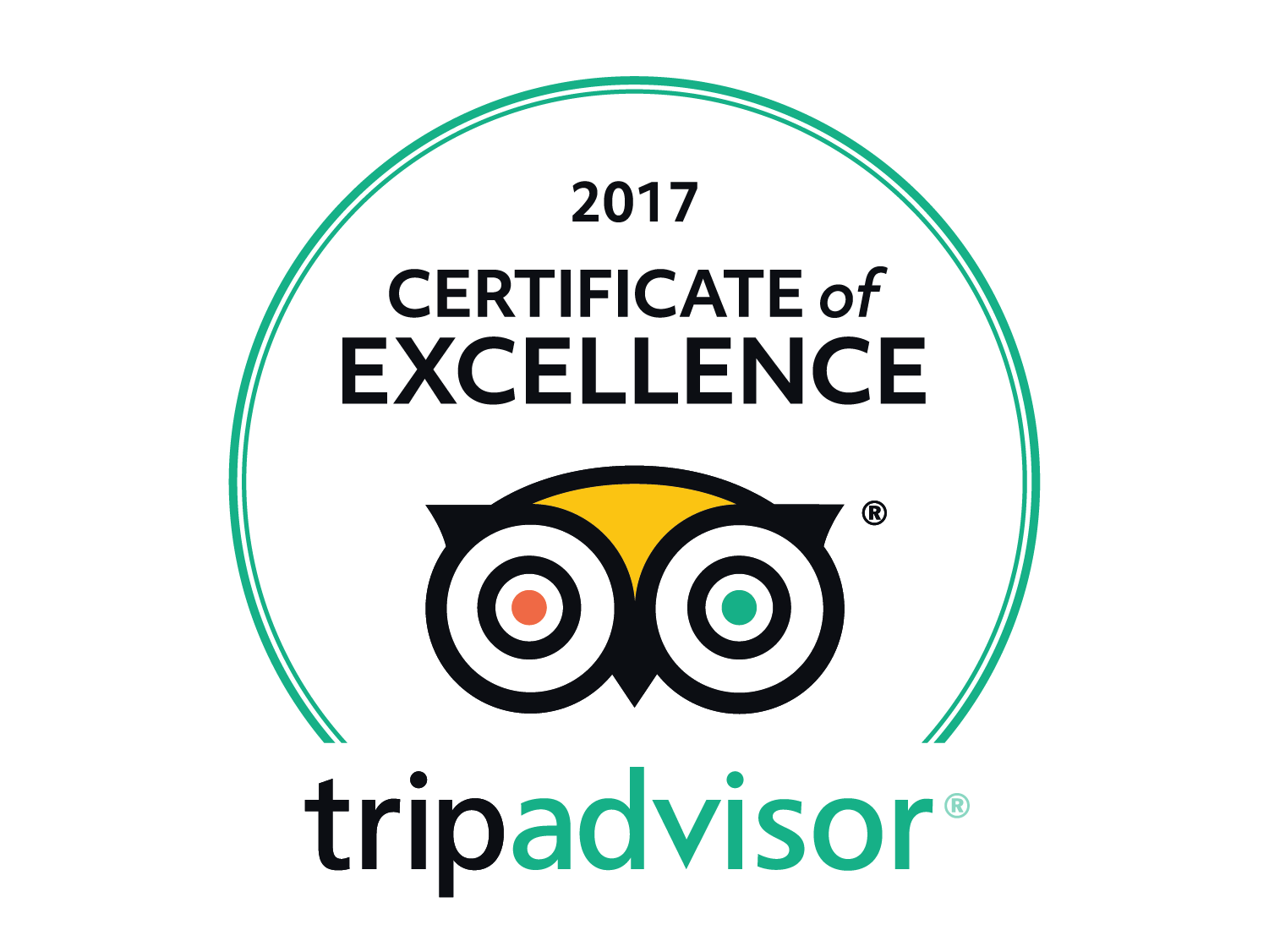 Trip Advisor 2017 - Certificate of Excellence