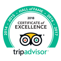 Trip Advisor 2018 - Certificate of Excellence