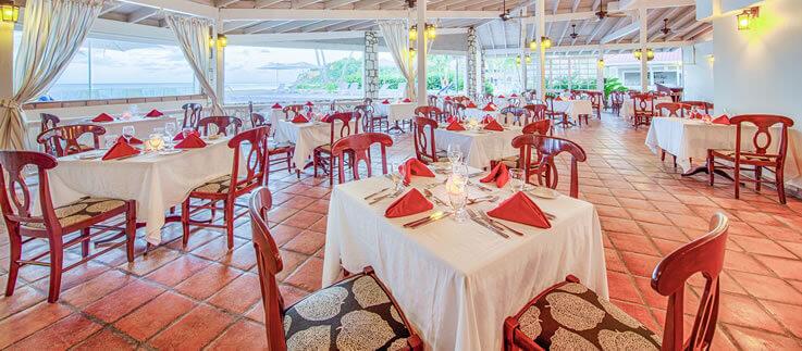Pineapple Beach dining area