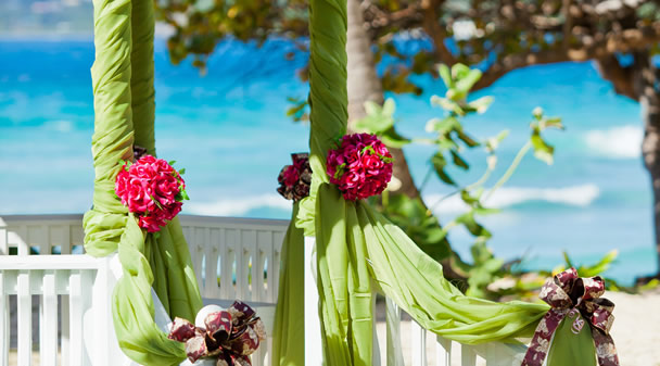 Wedding decorations in the Caribbean