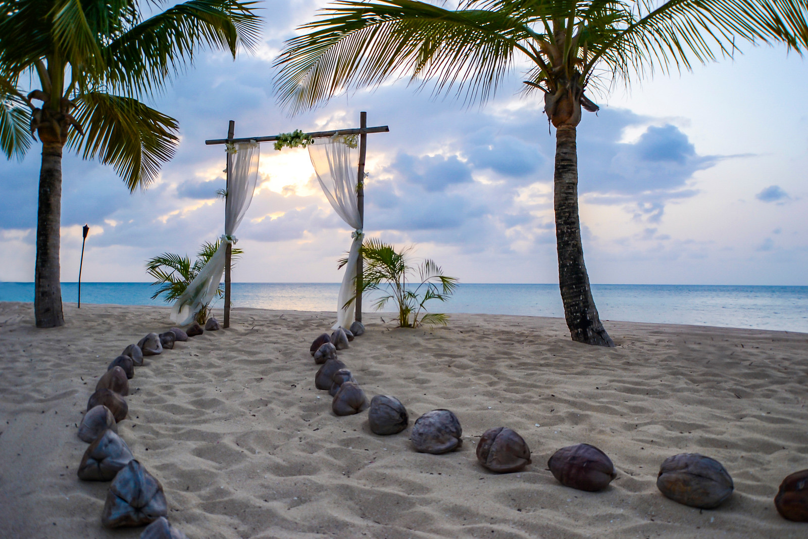 Beach wedding at Galley Bay Resort & Spa