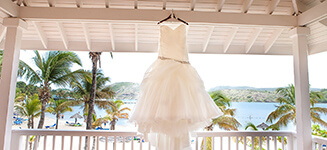 caribbean beach wedding dress