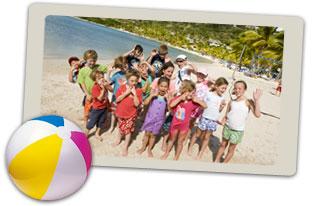 children on Caribbean holiday