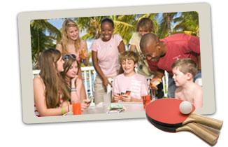family on Caribbean holiday