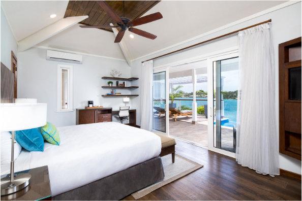 hammock cove resort and spa antigua ocean view bedroom