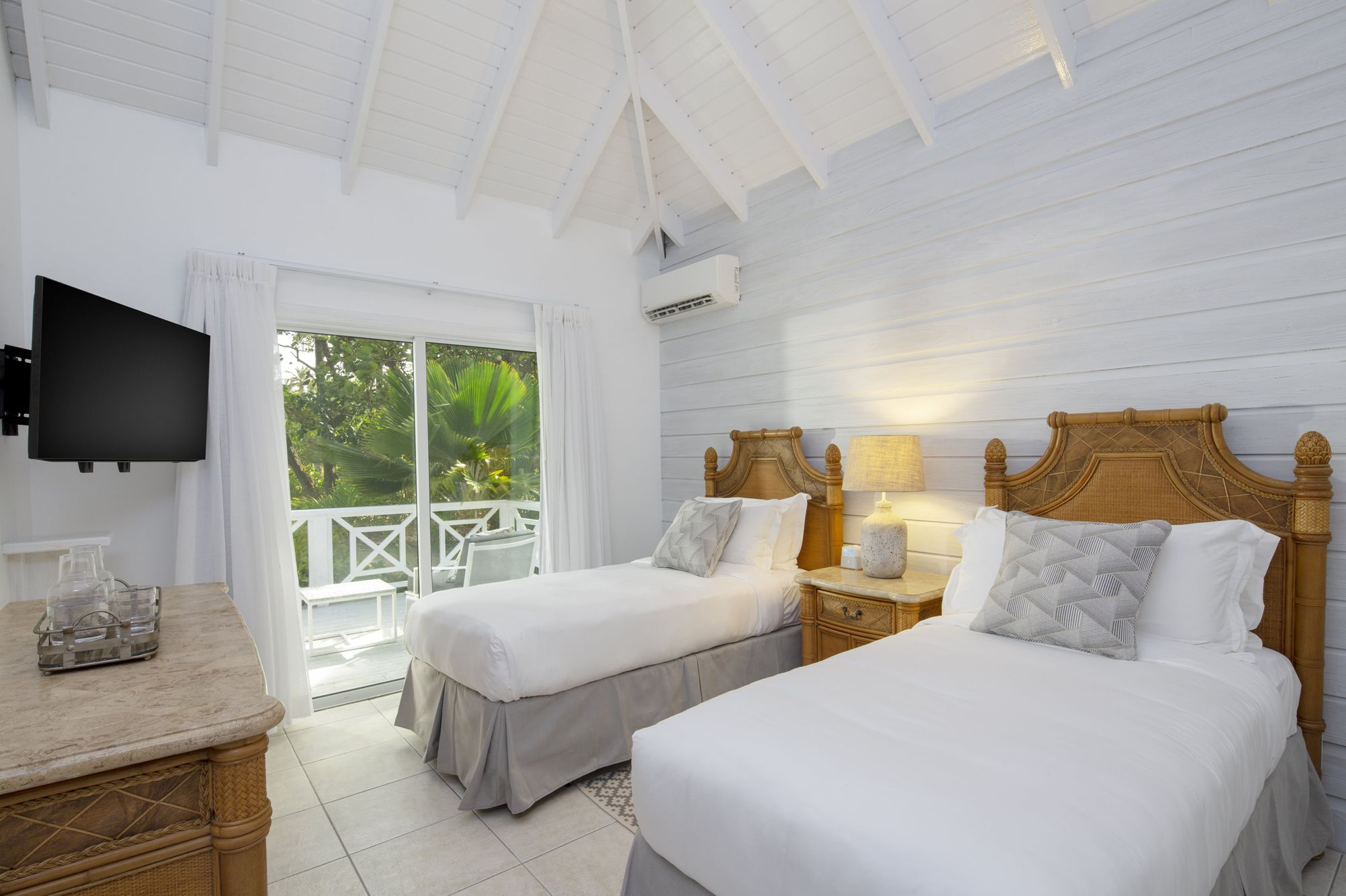 Seafeather villa twin room at Palm Island Resort & Spa
